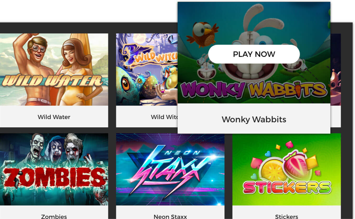 Responsive casino games demo lobby - mobile and tablet compatible