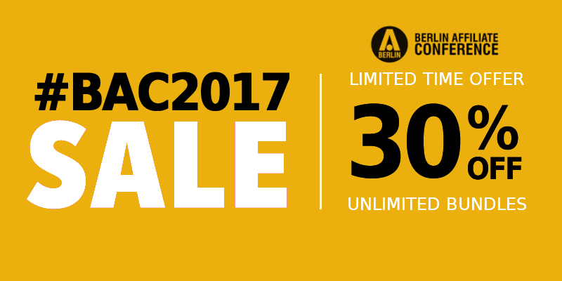 Berlin BAC2017 30% off offer