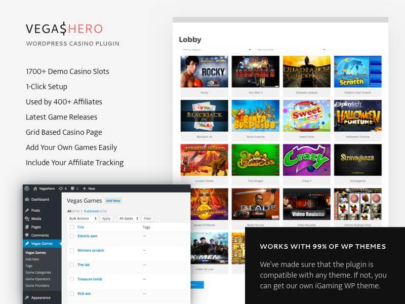 VegasHero casino Wordpress plugin
