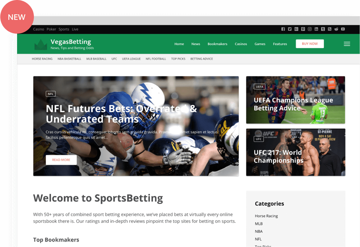 sport betting wp theme