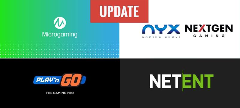 nextgen netent nyx microgaming playngo slots updates