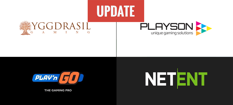 slots update yggdrasil playson netent playngo